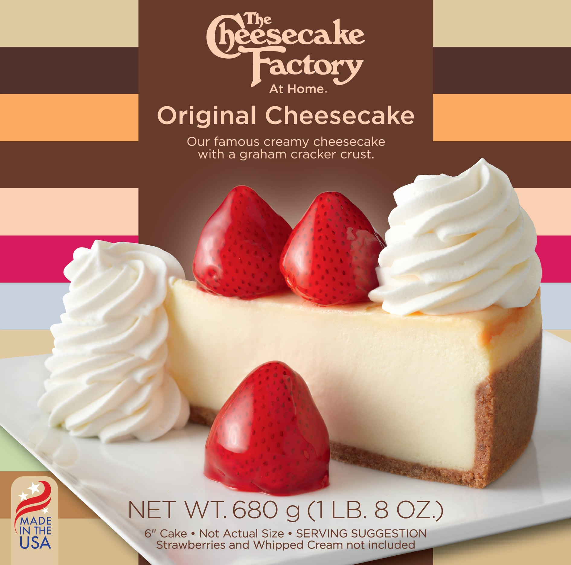 6 Inch Original Cheesecake from The Cheesecake Factory At Home range for UK & Europe Retailers