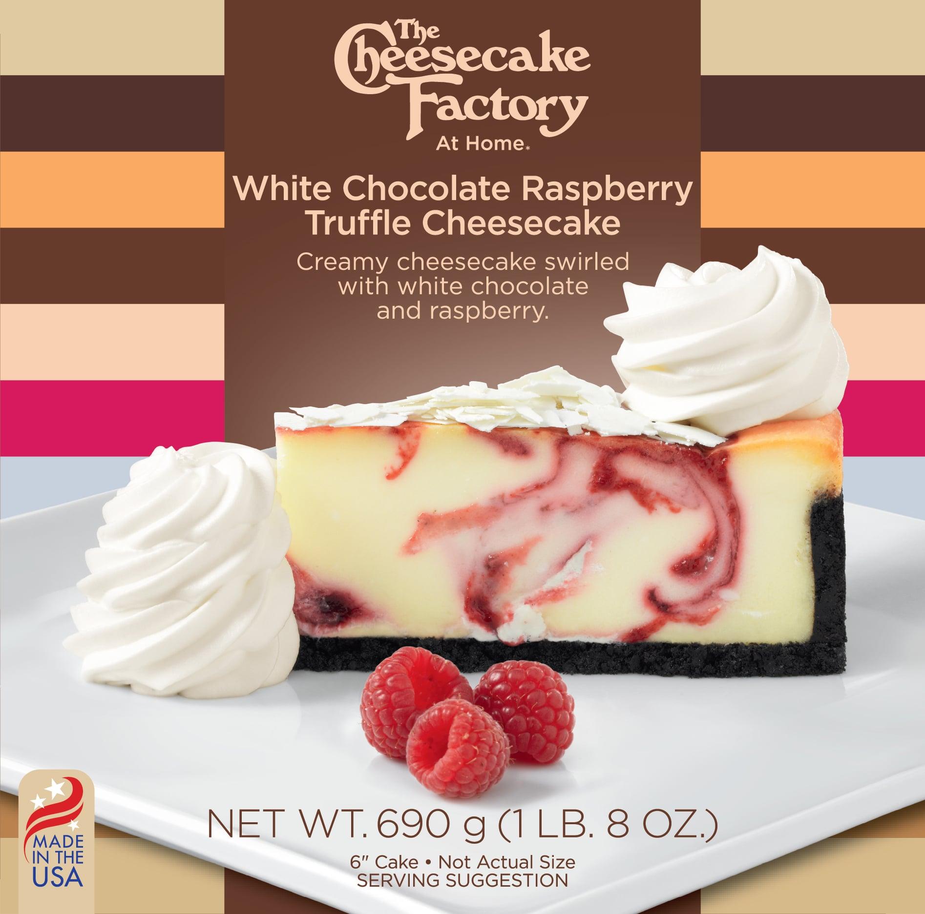 6 inch White Chocolate Raspberry Truffle Cheesecake