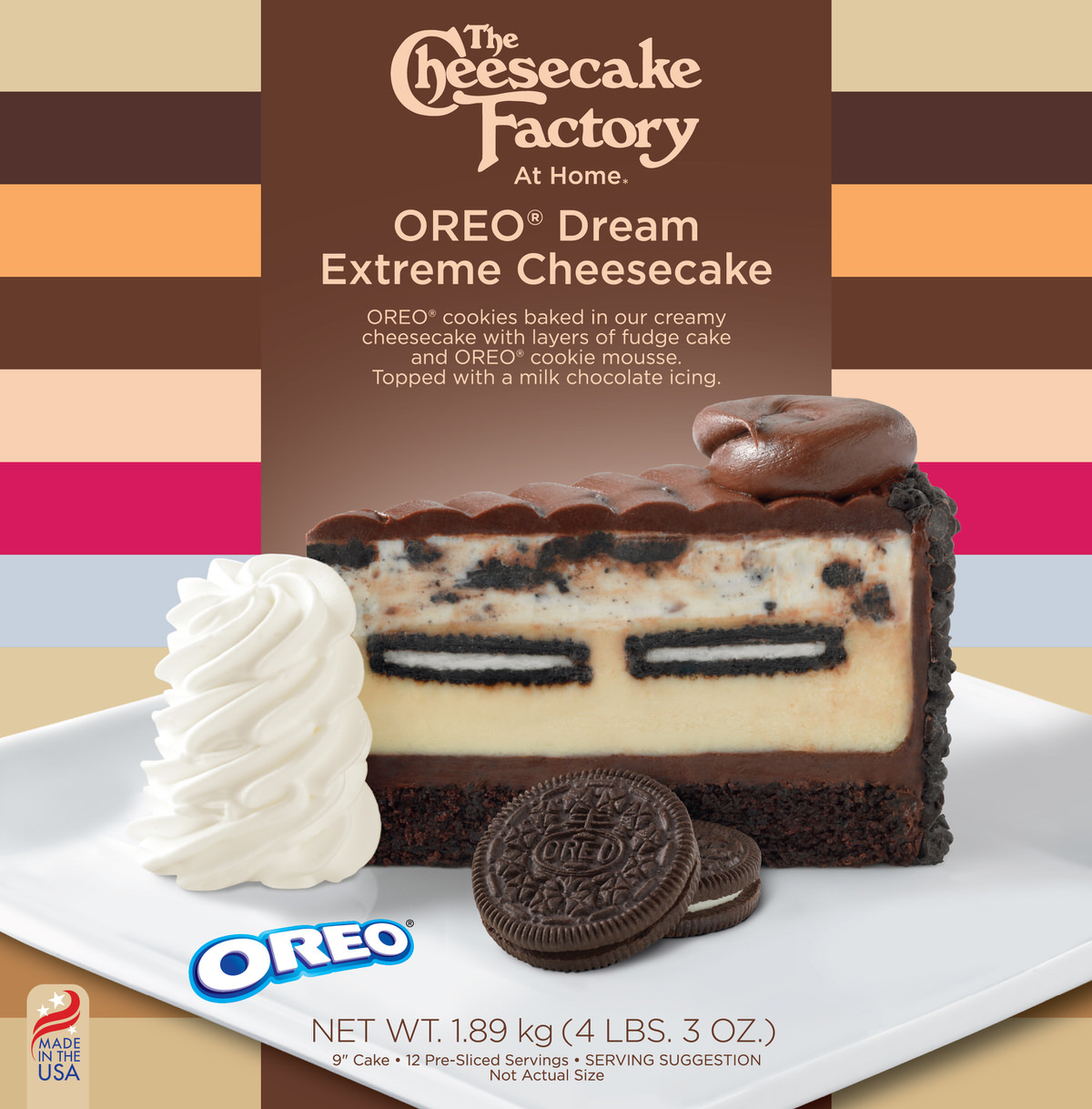 9 inch Oreo Dream Extreme Cheesecake