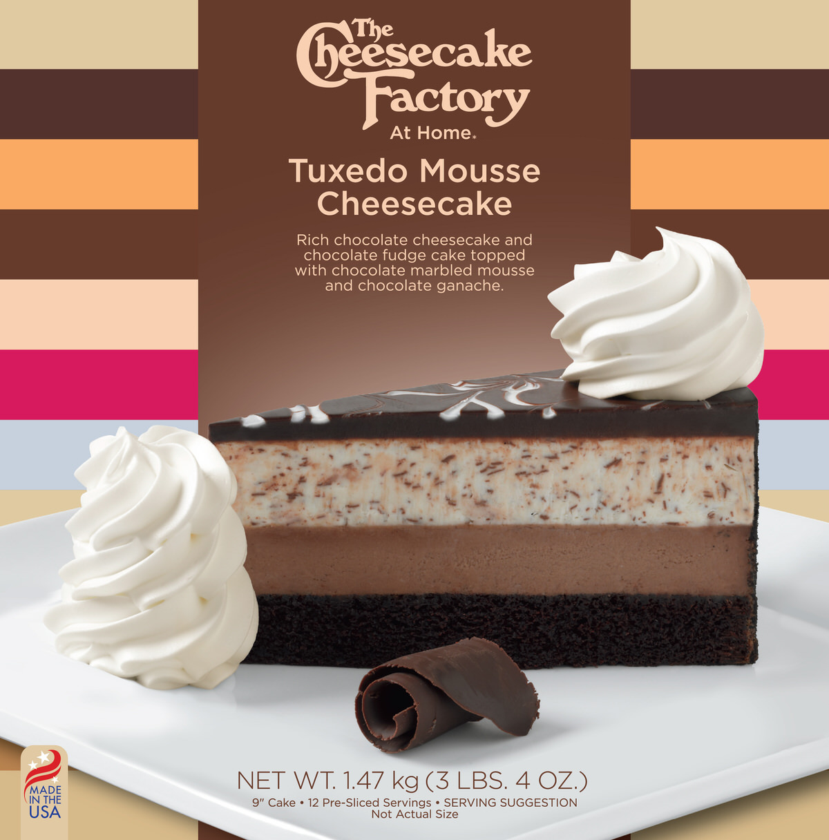 9 inch Tuxedo Mousse Cheesecake