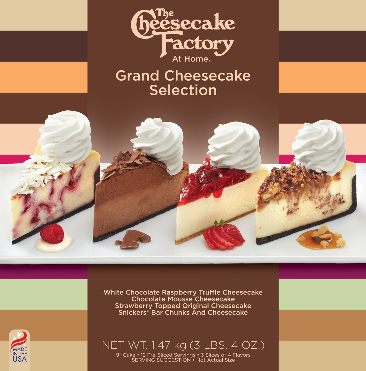 9 inch Grand Cheesecake Selection