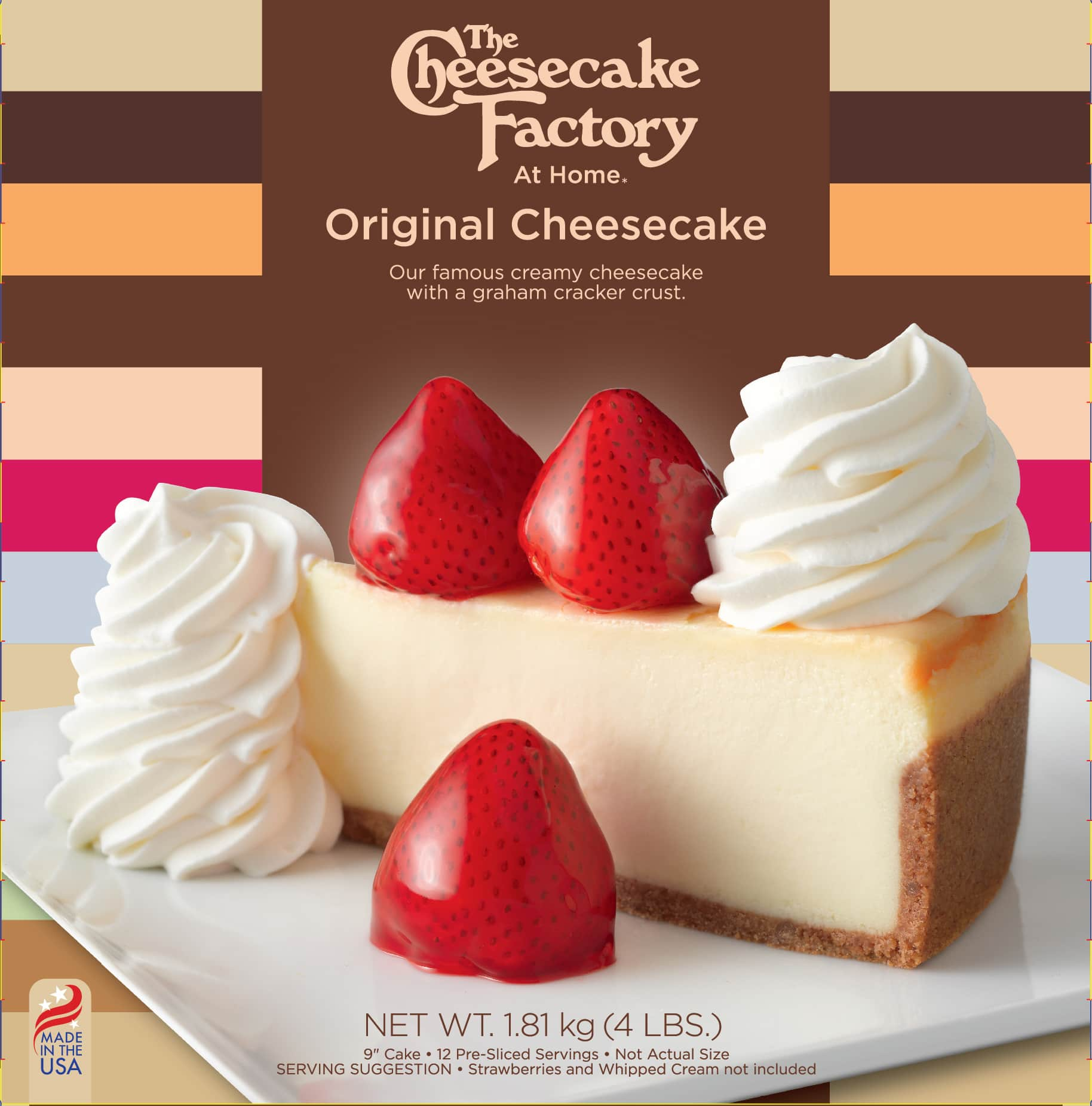 "9"" Original Cheesecake from The Cheesecake Factory At Home range for UK & Europe Retailers - Box of 12 pre sliced servings"