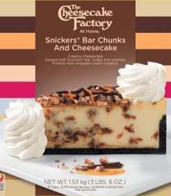 9 inch Snicker Bar Cheesecake from The Cheesecake Factory At Home for UK & Europe Retailers