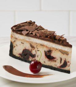 """10"""" Chocolate Cherry Cheesecake"""
