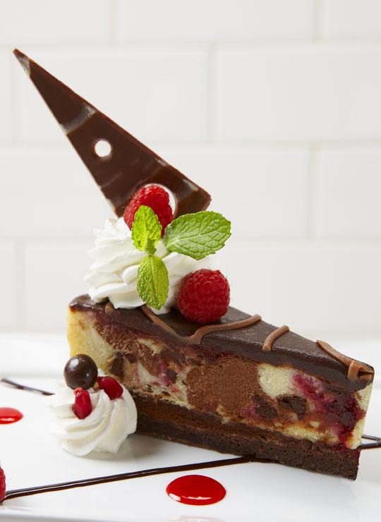 "9"" Ghirardelli Chocolate Raspberry Cheesecake"