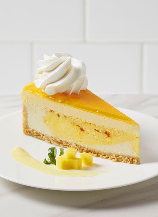 """10"""" Mango Key Lime Cheesecake"""