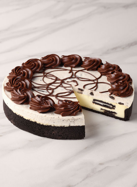 "10"" OREO Cookles and Cream Cheesecake"