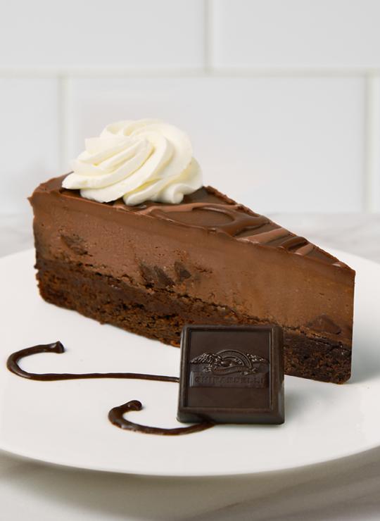 10 Inch Ghirardelli Triple Chocolate Cheesecake