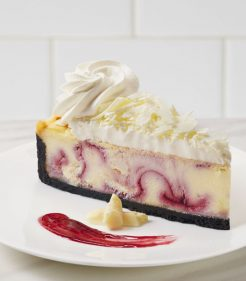 10 inch White Chocolate Raspberry Cheesecake