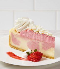 """10"""" Wild Strawberries and Cream Cheesecake"""